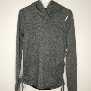 NWT Grey and Black Reebok Pullover